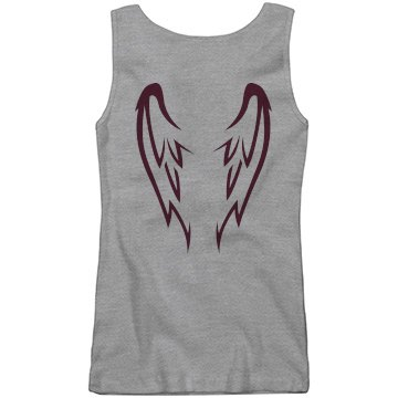 Pink Wing Tank Junior Fit Basic Bella 2x1 Rib Tank Top