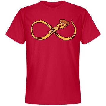 Pizza Infinity Forever Unisex Anvil Lightweight Fashion Tee
