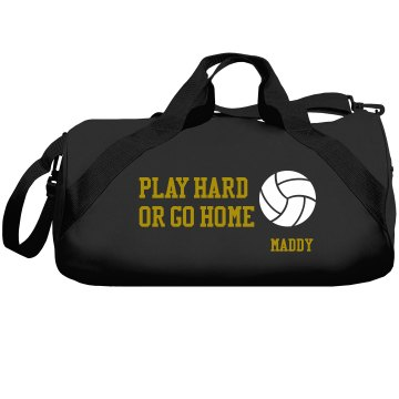 Play Hard Volleyball Bag Liberty Bags Barrel Duffel Bag