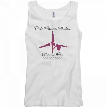 Pole Fitness Studio FLA Junior Fit Basic Bella 2x1 Rib Tank Top