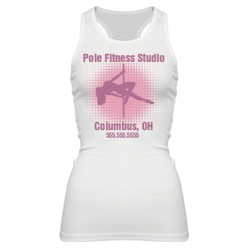 Pole Fitness Studio OH Junior Fit Bella Sheer Longer Length Rib Racerback Tank Top