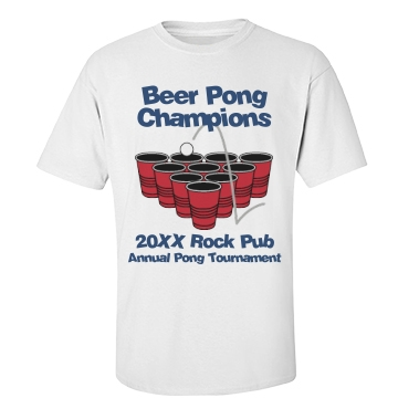 Pong Champion Tee Unisex Basic Port & Company Essential Tee