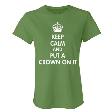 Portland Keep Calm On It Junior Fit Bella Favorite Tee