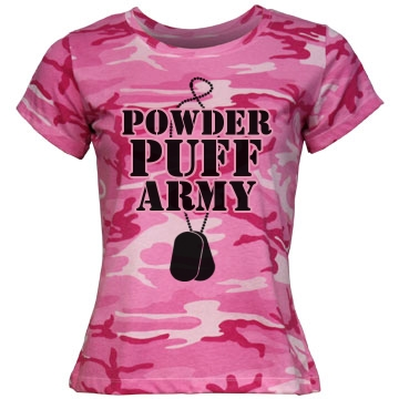 Powderpuff Football Army Misses Relaxed Fit Code V Jersey Pink Camo Tee