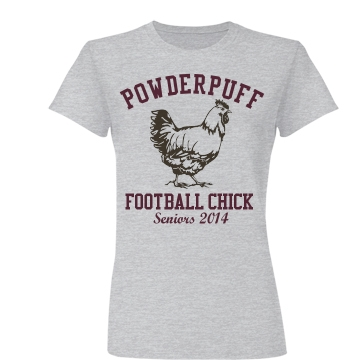Powderpuff Football Chick Junior Fit Basic Bella Favorite Tee