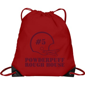 Powderpuff Helmet Number Port & Company Drawstring Cinch Bag
