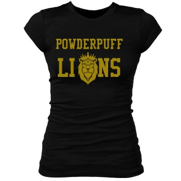 Powderpuff Lions Junior Fit Bella Sheer Longer Length Rib Tee