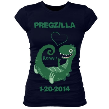 Pregzilla Baby Junior Fit Bella Sheer Longer Length Rib Tee