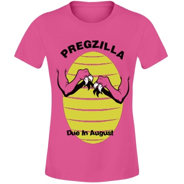 Pregzilla Maternity Misses Fit Anvil Lightweight Fashion Tee