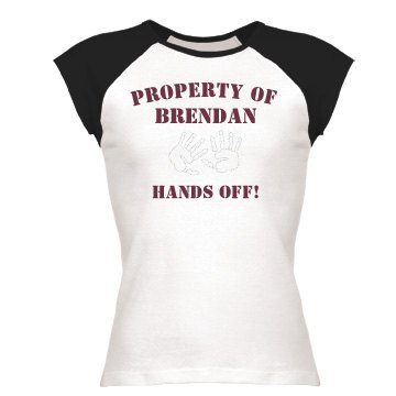 Property of Brendan Junior Fit Bella 1x1 Rib Cap Sleeve Raglan Tee
