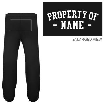 Property of Custom Name Sweats