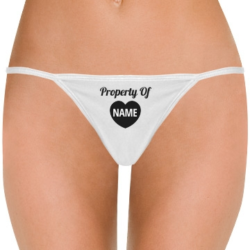 Property of Cute Custom Thong
