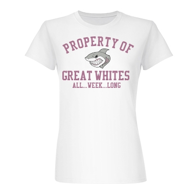 Property of Great Whites Junior Fit Basic Bella Favorite Tee