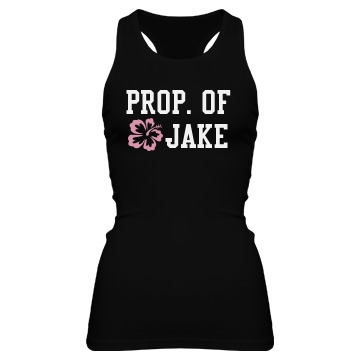 Property of Jake Junior Fit Bella Sheer Longer Length Rib Racerback Tank Top
