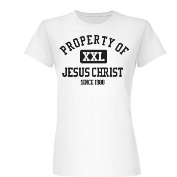 Property Of Jesus T Junior Fit Basic Bella Favorite Tee