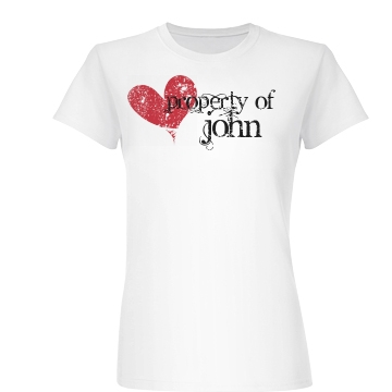 Property Of John Junior Fit Basic Bella Favorite Tee