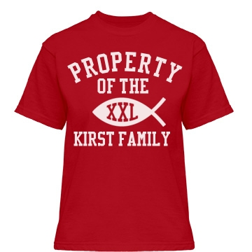 Property of Kirst Family Misses Relaxed Fit Gildan Heavy Cott