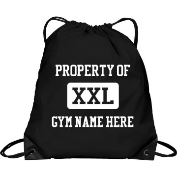 Property of My Gym Port & Company Drawstring Cinch Bag