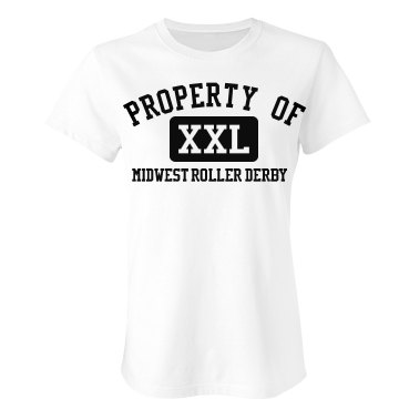 Property Of Roller Derby Junior Fit Bella Favorite Tee