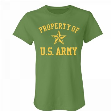 Property Of US Army Junior Fit Bella Favorite Tee