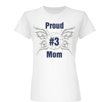 Proud # Mom Junior Fit Basic Bella Favorite Tee