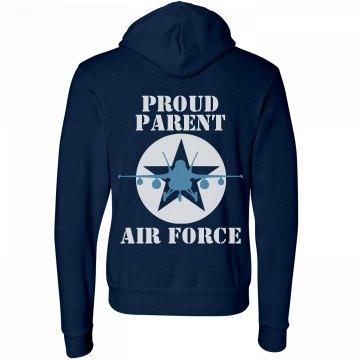 Proud Air Force Parent Unisex Canvas Fleece Full Zip Midweight Hoodie