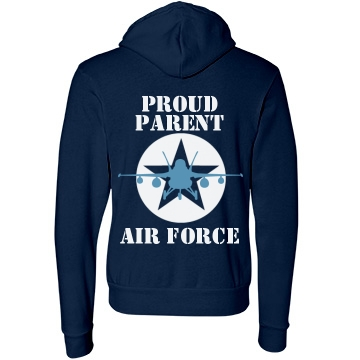 Proud Air Force Parent Unisex Canvas Fleece Full-Zip Hoodie