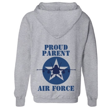 Proud Air Force Parent Unisex Gildan Heavy Blend Full Zip Hoodie