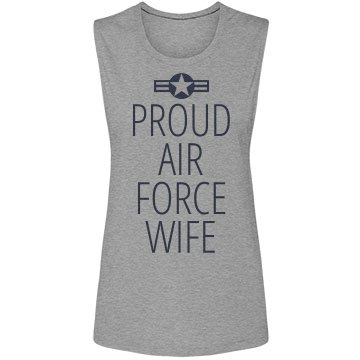 Proud Air Force Wife Bella Flowy Lightweight Muscle Tank Top
