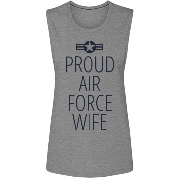 Proud Air Force Wife Bella Flowy Muscle Tank Top
