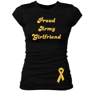 Proud Army GF Junior Fit Bella Sheer Longer Length Rib Tee