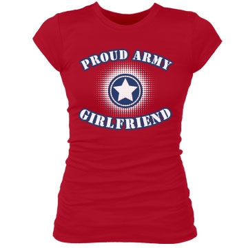 Proud Army GF w/ Back Junior Fit Bella Sheer Longer Length Rib Tee