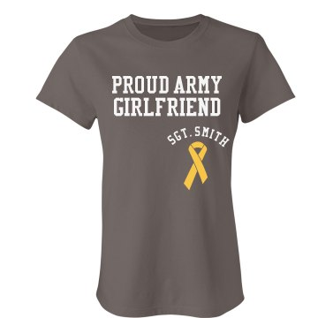 Proud Army Girlfriend Junior Fit Bella Favorite Tee