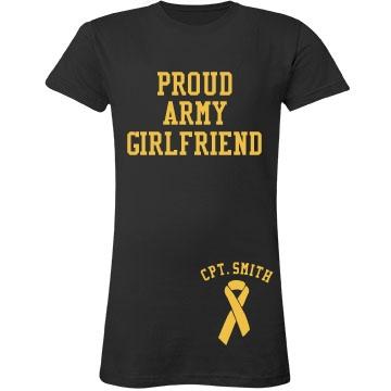 Proud Army Girlfriend Junior Fit LA T Fine Jersey Tee