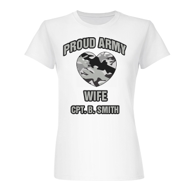 Proud Army Wife Junior Fit Basic Bella Favorite Tee
