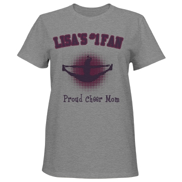 Proud Cheer Mom Tee Misses Relaxed Fit Port