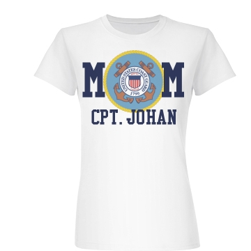 Proud Coast Guard Mom Junior Fit Basic Bella Favorite Tee