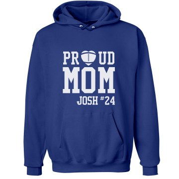 Proud Football Mom Unisex Hanes Ultimate Cotton Heavyweight Hoodie