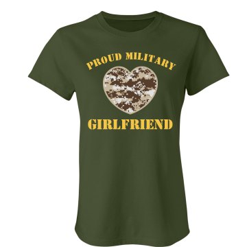 Proud Military Girlfriend Junior Fit Bella Favorite Tee