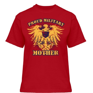 Proud Military Mother Misses Relaxed Fit Gildan Heavy Cotton Tee
