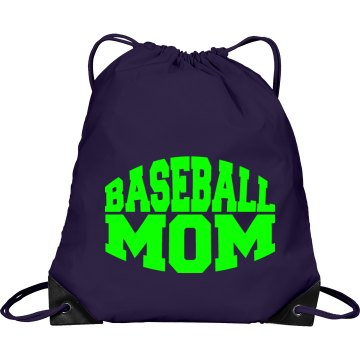 Proud Mom Gear Bag Port & Company Drawstring Cinch Bag