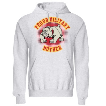 Proud Mother Bulldog Unisex Gildan Heavy Blend Hoodie