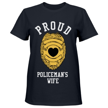Proud Policeman's Wife Misses Relaxed Fit Port & Company Essential Tee