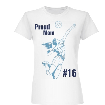 Proud Vball Mom Junior Fit Basic Bella Favorite Tee