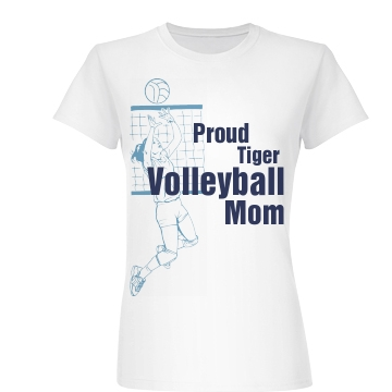 Proud Volleyball Mom Junior Fit Basic Bella Favorite Tee