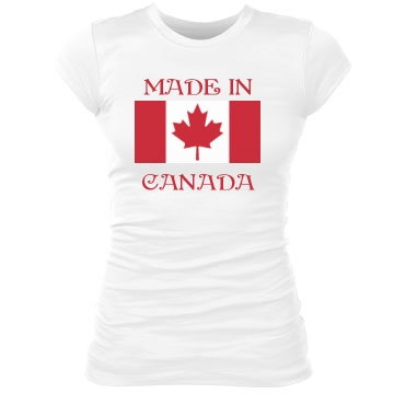 Proudly Made In Canada Junior Fit Bella Sheer Longer Length Rib Tee