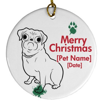 Pug Family Dog Ornament