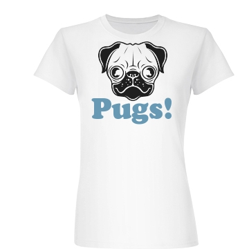 Pugs! Junior Fit Basic Bella Favorite Tee