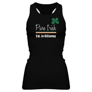 Pure Irish Junior Fit Bella Sheer Longer Length Rib Racerback Tank Top