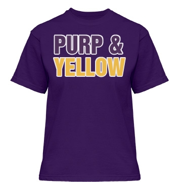 Purp & Yellow Misses Relaxed Fit Gildan Heavy Cotton Tee
